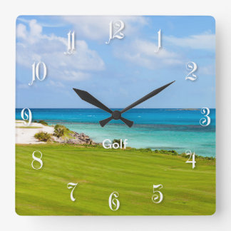 Golf course wall clock