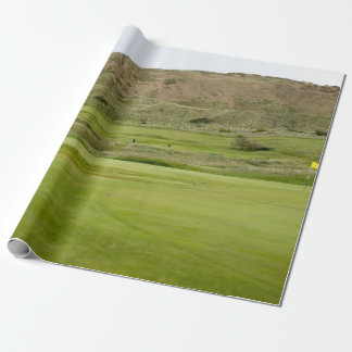 Golf course wrapping paper