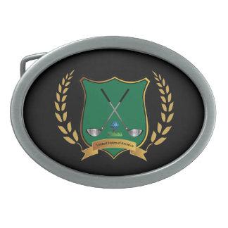 GOLF Crest , Golf Clubs, Logo, Cool Belt Buckles