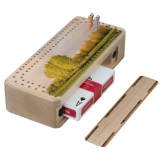 Golf Maple Cribbage Board