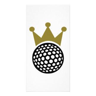 Golf crown photo greeting card