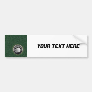 Golf Cup and Ball on the Greens Bumper Sticker