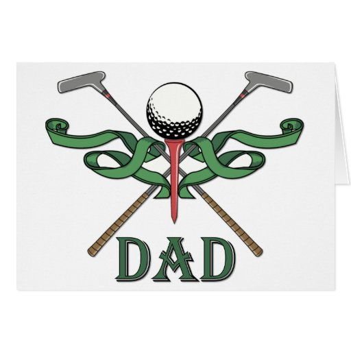 Golf Dad Greeting Card