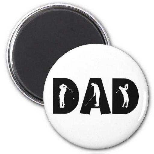 Golf Dad Gift 6 Cm Round Magnet