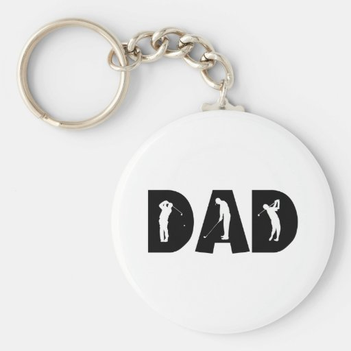 Golf Dad Gift Key Chains