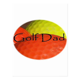 Golf Dad Postcard