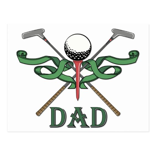 Golf Dad Postcards