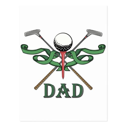 Golf Dad Post Cards