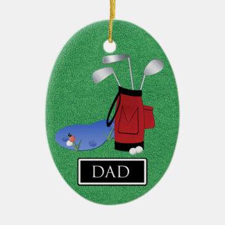 Golf  Dad - SRF Christmas Ornament