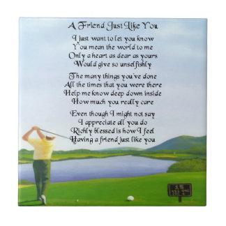 Golf Design : Friend Poem Tile