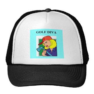 golf diva mesh hat