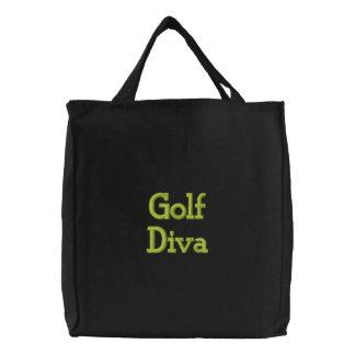 Golf Diva Embroidered Tote Bag