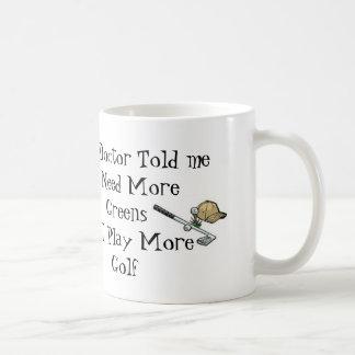 Golf Doctor Prescription Coffee Mug
