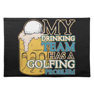 Golf Drinking Team Placemat