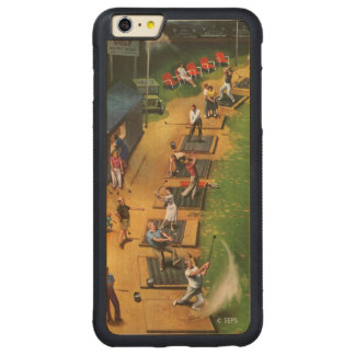 Golf Driving Range by John Falter Carved Maple iPhone 6 Plus Bumper Case