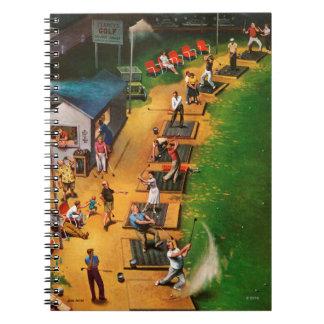Golf Driving Range by John Falter Notebooks