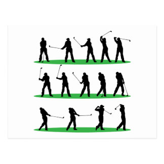 Golf Driving Sequence Postcards