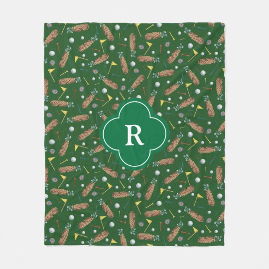 Golf Equipment Monogram Fleece Blanket