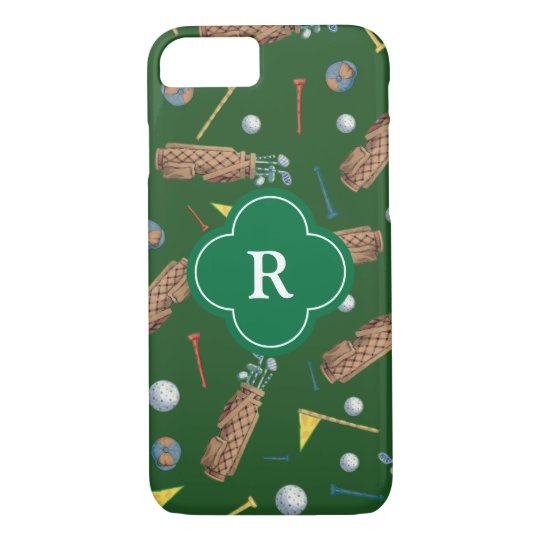 Golf Equipment Monogram iPhone 8/7 Case