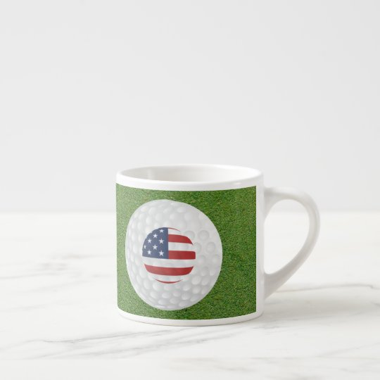 GOLF ESPRESSO COFFEE MUG, FOR GOLFERS ESPRESSO CUP
