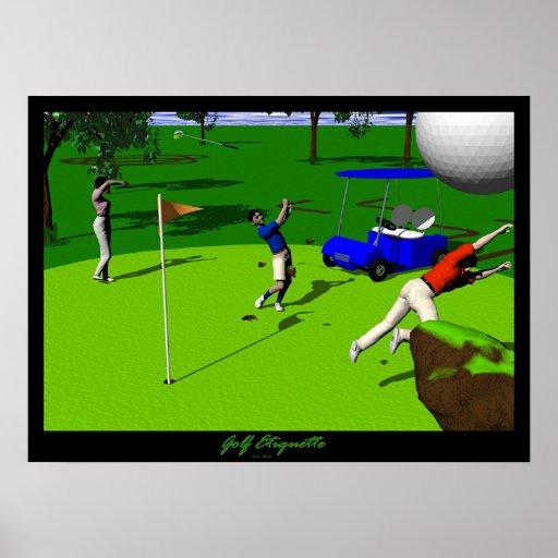 Golf Etiquette Poster