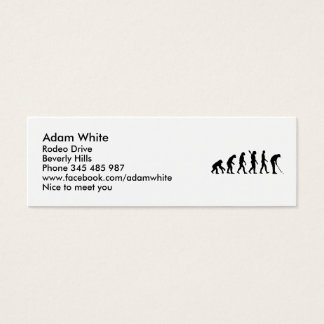 Golf evolution mini business card