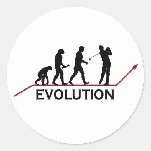 Golf Evolution Round Sticker