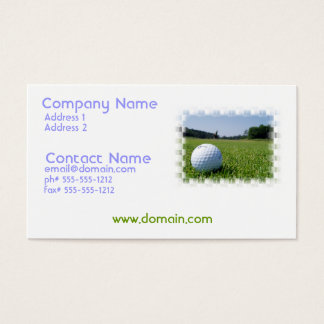Golf Fairway Business Card
