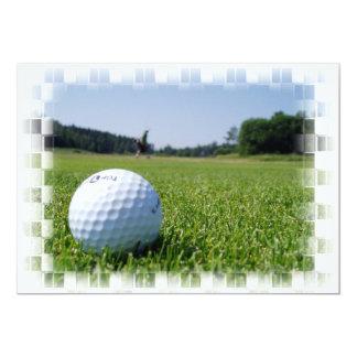 Golf Fairway Inviation 13 Cm X 18 Cm Invitation Card