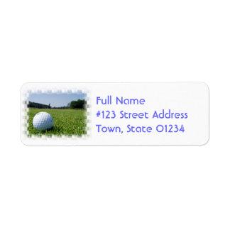 Golf Fairway Mailing Label Return Address Label