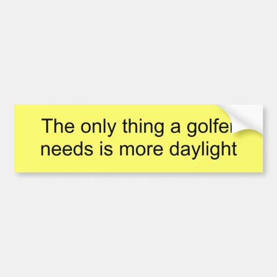 Golf Fanatic fun bumper sticker expression