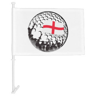 Golf Fans England Car Flag