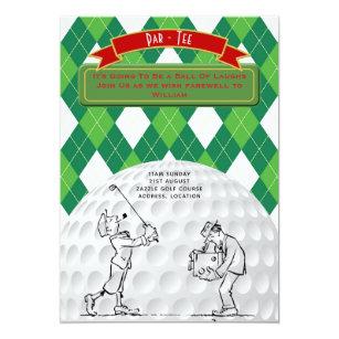 golf day invitations announcements zazzle uk. Black Bedroom Furniture Sets. Home Design Ideas