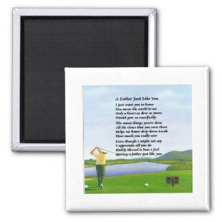Golf - Father Poem Magnet