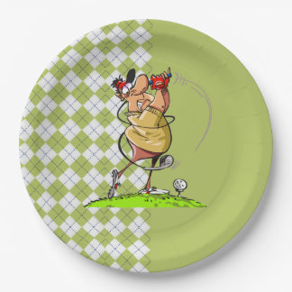 Golf Father's Day Party Paper Plates