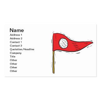 Golf Flag Pack Of Standard Business Cards