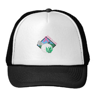 GOLF FORE A CURE MESH HATS