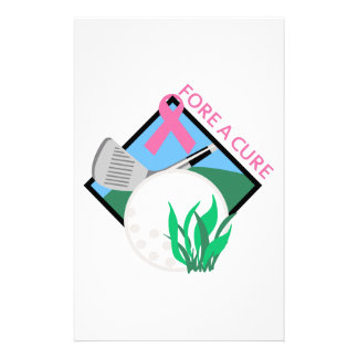 GOLF FORE A CURE STATIONERY