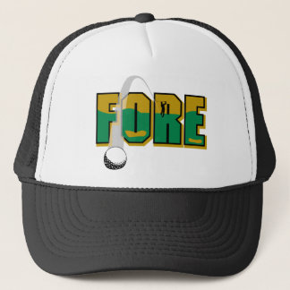 Golf Fore Trucker Hat