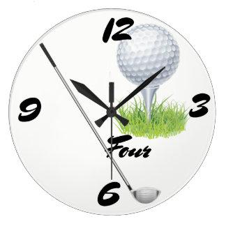 Golf Four Large Clock