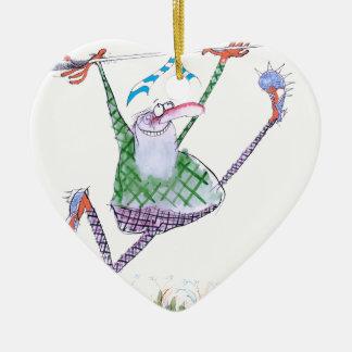 golf gift, tony fernandes ceramic heart decoration