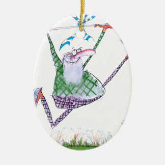 golf gift, tony fernandes ceramic oval decoration
