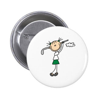Golf Girl Button
