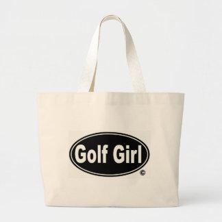 Golf Girl Jumbo Tote Canvas Bag
