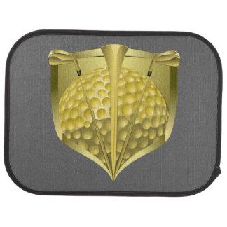 Golf Gold Shield Floor Mat
