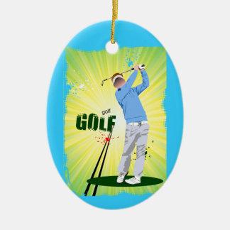 Golf Golfer blue Ornament
