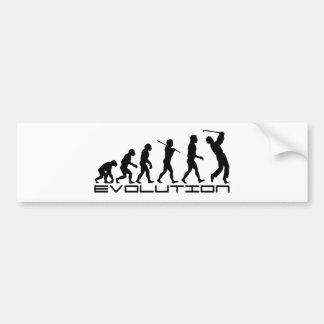 Golf Golfer Golfing Sport Evolution Art Bumper Sticker