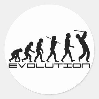 Golf Golfer Golfing Sport Evolution Art Round Stickers