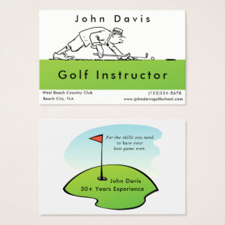 Golf Golfer Instructor Golf Course Business Card