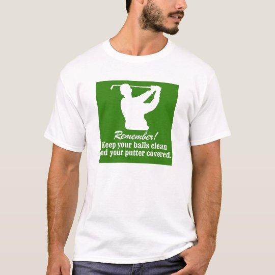 golf golfing golfer Keep Your balls T-Shirt